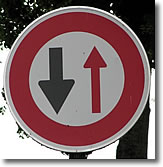 Priority traffic sign, France