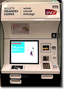 SNCF Grandes Lignes ticket machine, Paris, France