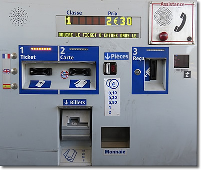 Highway toll machine, France